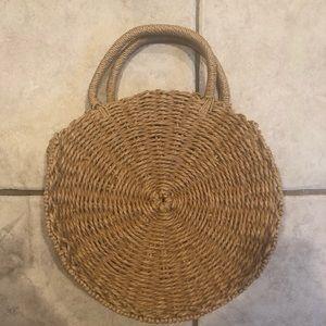 Handbags - Round straw bag